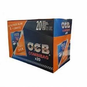 Ocb Combibag Filtri 6MM+Cartina Arancione 20 Buste 4400