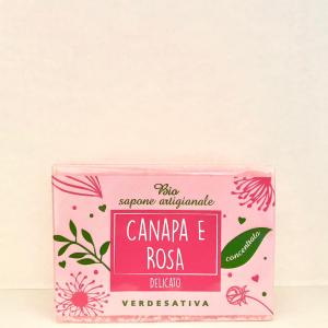 Biosapone Artigianale Canapa e Rosa