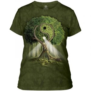 T-shirt Donna The Mountain® Ying Yang Tree verde S