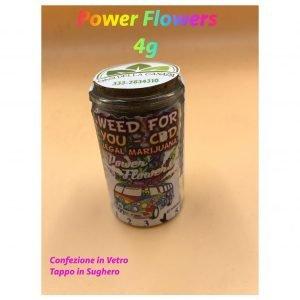 Idea Regalo-Power Flower 4 g-Barattolo di Vetro