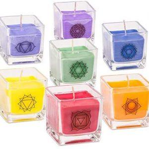 Set 7 candele Chakra ecologiche profumate
