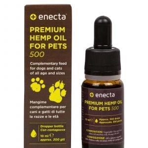 Premium Hemp Oil per animali – 500 mg, 10 ml