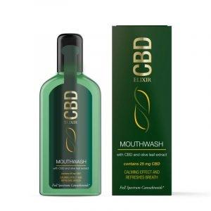 Collutorio Elixir CBD 25mg Estratto di foglie di CBD e olio d'oliva (75ml)