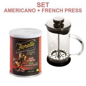 SET 1 French Press + 1 Miscela Bio Caffè e Canapa-Americano
