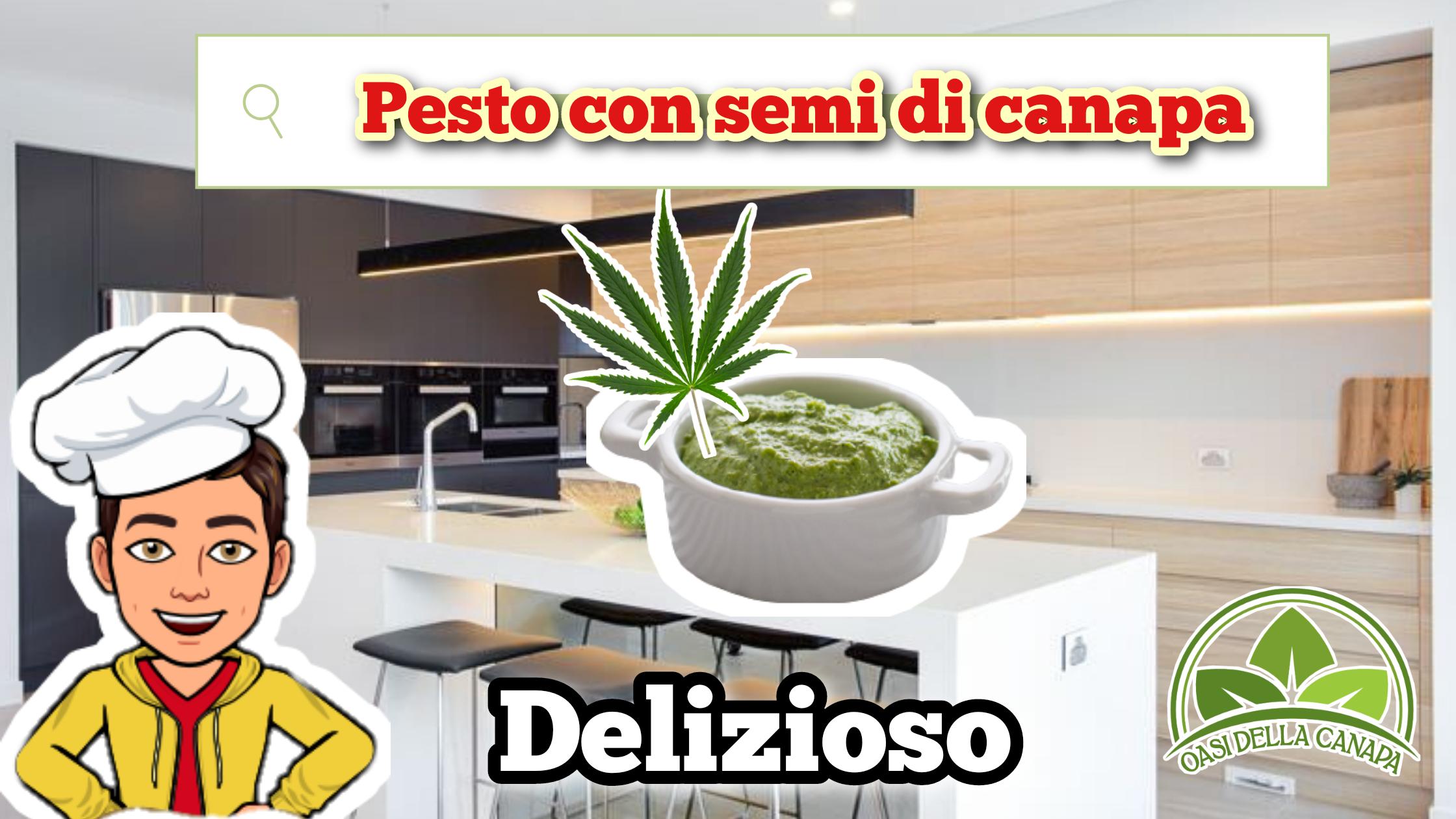 Ricetta Facile e Veloce per Pesto con Semi di Canapa