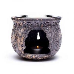 Brucia essenze ed incensi in pietra ollare