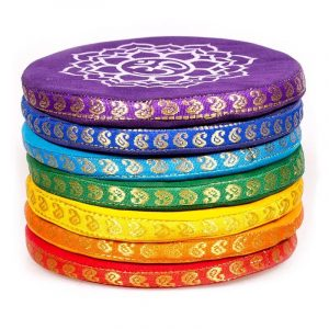 Cuscini per campane tibetane set 7 Chakra