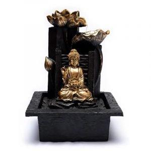 Fontana d'acqua Buddha con fior di Loto