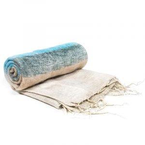 Scialle Meditazione crema a strisce