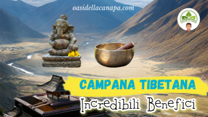 Il Tibet di sfondo e di fronte c'è una campana tibetana