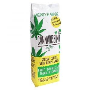 Cannabissimo Caffè macinato con Foglie di Canapa (250g)
