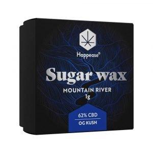 Happease Estratto di CBD Mountain River Sugar Wax 62% CBD (1g)