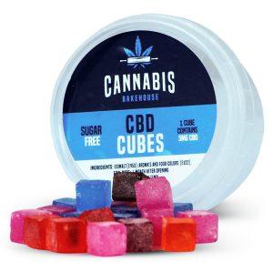 Caramelle al CBD a forma di cubo