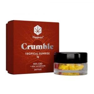 Happease Estratto di CBD Tropical Sunrise Crumble 90% CBD + Altri Cannabinoidi (1g)